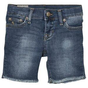 Image of Ralph Lauren Boys Shorts Blue Blue Mid Wash Denim Shorts