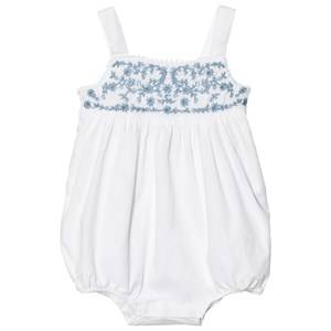 Image of Ralph Lauren Girls All in ones White Embroidered Cotton Romper White