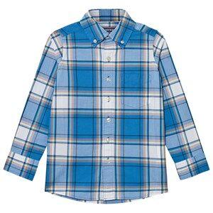 Lands End Boys Tops Blue Blue Poplin Shirt
