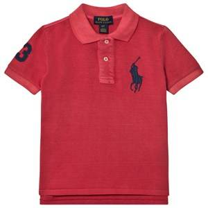 Ralph Lauren Boys Tops Red Cotton Mesh Polo Shirt Red
