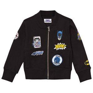 Fabric Flavours Boys Coats and jackets Black Batman Patch Bomber Jacket