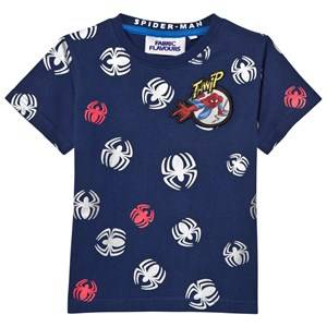 Fabric Flavours Boys Tops Blue Spider-Man Repeat Print T-shirt
