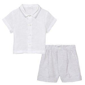 Il Gufo Boys Clothing sets Grey Grey Linen Shirt and Shorts Set