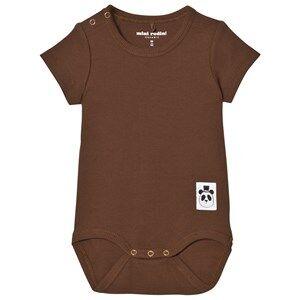 Mini Rodini Unisex All in ones Brown Baby Body Rib Brown