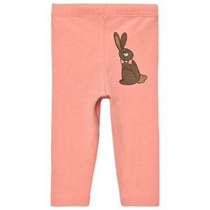 Mini Rodini Girls Bottoms Pink Rabbit Leggings Pink