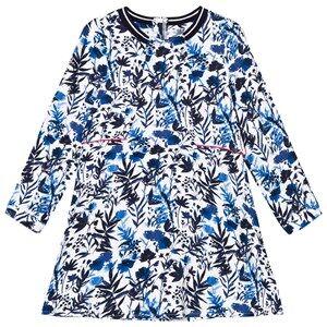 Image of IKKS Girls Dresses Blue White/Blue Floral Print Dress