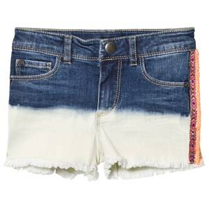IKKS Girls Shorts Blue Indigo Dip Dyed Denim Shorts