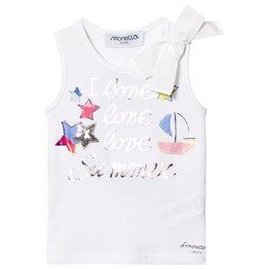 Simonetta Girls Tops White I Love Summer Tank Top White