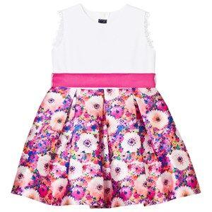 Oscar De La Renta Girls Dresses Pink Pink Rainbow Dahlia Mikado Party Dress
