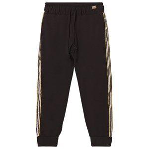 Relish Girls Bottoms Black Black Lightweight Track Pants with Glitter Trim