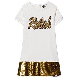 Relish Girls Dresses Cream Cream and Gold Sequin Detail Sweat Dress