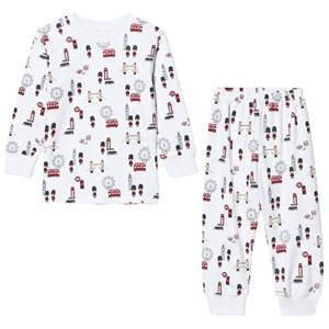 Kissy Kissy Unisex Nightwear White White London Landmarks Print Pyjamas