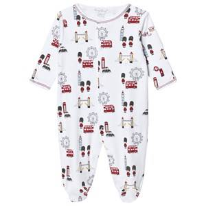 Image of Kissy Kissy Unisex All in ones White White London Landmarks Jersey Footed Baby Body