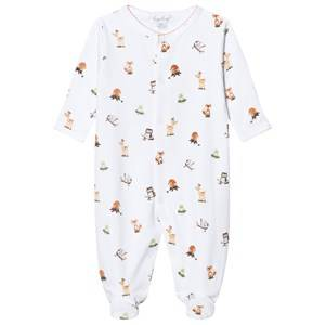 Image of Kissy Kissy Unisex All in ones White White Animal Print Jersey Footed Baby Body