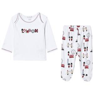 Kissy Kissy Unisex Clothing sets White White London Landmarks Print Jersey Set
