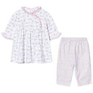 Kissy Kissy Girls Clothing sets Pink White and Pink Dachshund Print Dress and Print Legging Set