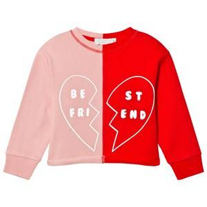 Stella McCartney Kids Girls Jumpers and knitwear Pink June Best Friends Sweatshirt