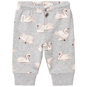 Stella McCartney Kids Girls Bottoms Grey Grey Swan Print Sweat Pants