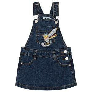 Molo Girls Dresses Blue Carolyn Overalls Washed Indigo