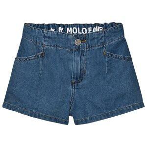 Molo Girls Shorts Blue Alta Shorts Soft Denim Blue