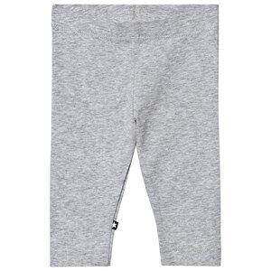 Image of Molo Girls Bottoms Grey Nette Solid Leggings Grey Melange