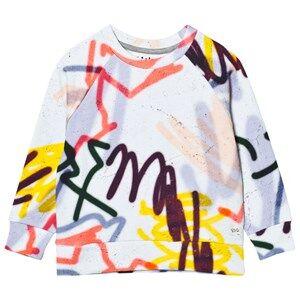 Molo Girls Jumpers and knitwear White Marina Sweatshirt Graffiti