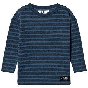 Molo Boys Jumpers and knitwear Blue Mac Sweatshirt Stellar Blue Stripe