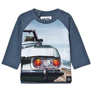 Molo Boys Tops Black Evan T-Shirt Back Lights