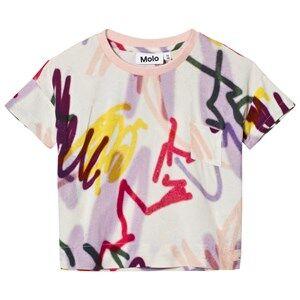 Molo Girls Tops White Rheta Shirt Graffiti