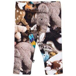 Image of Molo Girls Bottoms Grey Stefanie Leggings Friends Forever