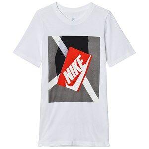 NIKE Boys Tops White White Shoe Box Graphic Tee