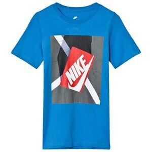 NIKE Boys Tops Blue Blue Shoe Box Graphic Tee