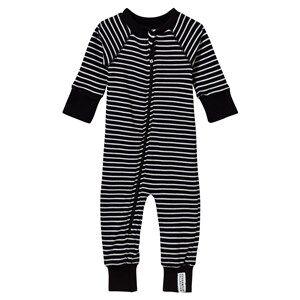 Geggamoja Unisex Childrens Clothes All in ones Black Classic Pyjamas Black/White