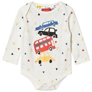 Tom Joule Boys All in ones Cream Cream Car Print Baby Body