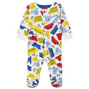 Tom Joule Boys All in ones Multi Multi Car Print Footed Baby Body