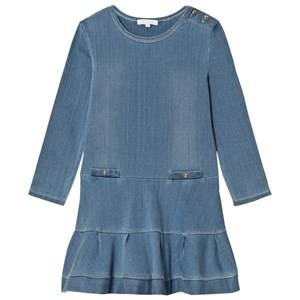 Image of Chloé Girls Dresses Blue Blue Chambray Dress