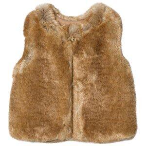 Chloé Girls Coats and jackets Beige Tan Faux Fur Gilet