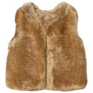 Image of Chloé Girls Coats and jackets Beige Tan Faux Fur Gilet