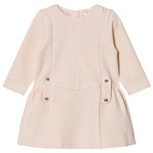 Image of Chloé Girls Dresses Pink Milano Dress with Branded Hardware Pale Pink