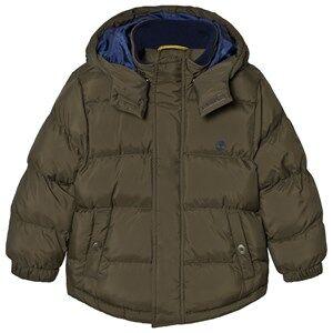 Timberland Boys Coats and jackets Green Hooded Puffer Jacket Khaki