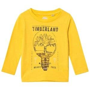 Timberland Boys Tops Yellow Yellow Branded Tee