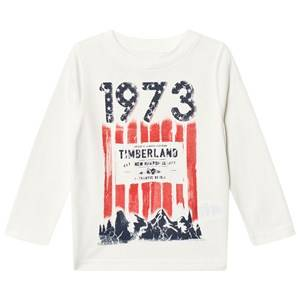 Timberland Boys Tops White White Mountain 1973 Print Tee