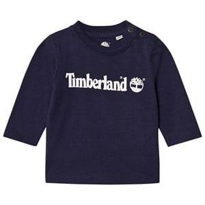 Timberland Boys Tops Navy Navy Tree Logo Tee