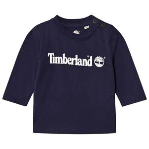 Timberland Boys Tops Navy Navy Tree Logo Tee