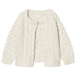 Image of Burberry Girls Jumpers and knitwear Cream Cable Knit Wool Cashmere Henriet Cardigan Cream