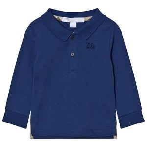 Burberry Boys Tops Blue Long Sleeve Polo Marine Blue