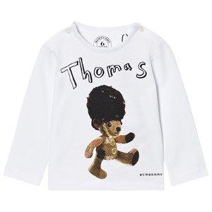 Burberry Boys Tops White Thomas Bear Print Tee White
