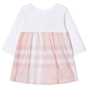 Image of Burberry Girls Dresses Pink Check Detail Dress Pale Pink