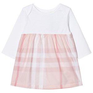 Burberry Girls Dresses Pink Check Detail Dress Pale Pink