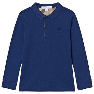 Burberry Boys Tops Blue MaLong Sleeve Polo Marine Blue